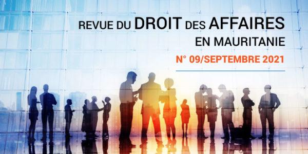 Revue du droit des affaires en Mauritanie